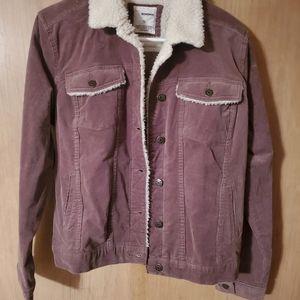 Brown sonoma corduroy jacket has sheep skin inside